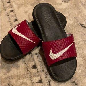 RED NIKE Sandals! Whoosh